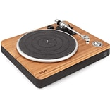 The House of Marley EM-JT000RC-SB Stir It Up Turntable (Bob Marley Legend Album Bundle)