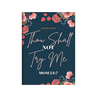2021 TF Publishing 7.5 x 10.25 Planner, Mom 24/7, Multicolor (21-4213)