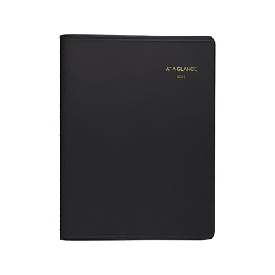 2021 AT-A-GLANCE 8.25 x 11 Appointment Book, Black (70-950-05-21)