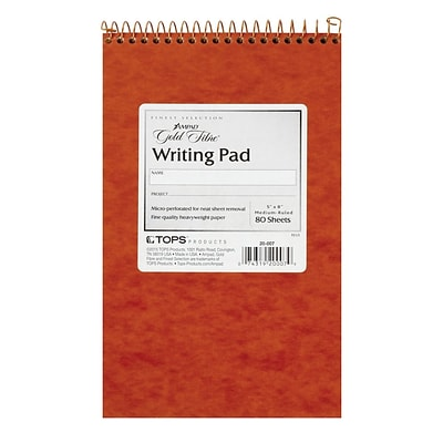 Ampad Gold Fibre Writing Pad, 5 x 8, Medium Ruled, Ivory, 80 Sheets/Pad (20-007)