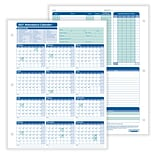 ComplyRight 2021 Attendance Calendar Card, White, Pack of 25 (A4000W25)
