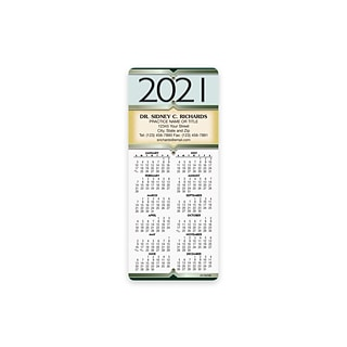 Custom Hanging Calendars with Magnet Backs, 3.625 x 8.5, 12 Pt. Coated Stock