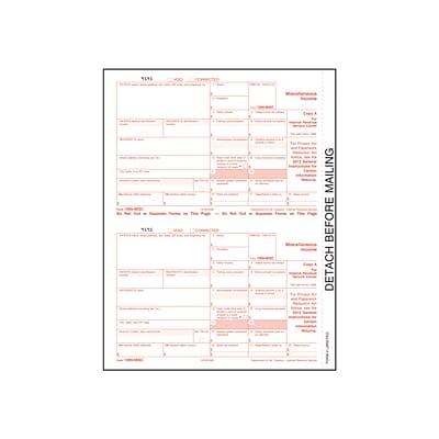 TOPS 2020 1099-NEC Copy A Tax Form, 25/Pack (LNECFED25-S)