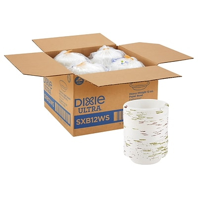 Dixie Ultra Pathways Heavy-Weight Paper Bowls, 12 oz., 125/Pack (SXB12WS)