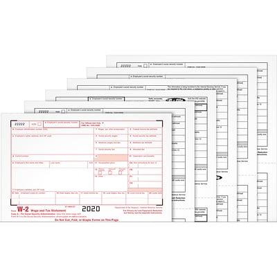 Adams 2020 W-2 Tax Forms, Access to Tax Forms Helper Online, 5 Free E-Files, 24/Pack (STAX62224)