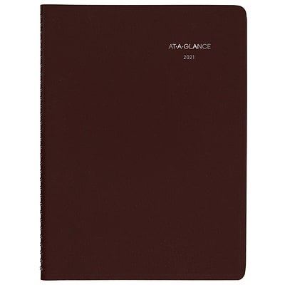 2021 AT-A-GLANCE 8 x 11 Appointment Book, DayMinder, Burgundy (G5201421)
