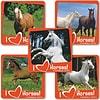 "SmileMakers® Real Horses Stickers; 2-1/2""H x 2-1/2""W, 100/Roll"