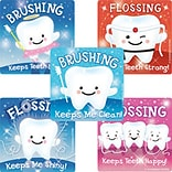 "SmileMakers® Glitter Teeth Stickers; 2-1/2""H x 2-1/2""W, 75/Box"