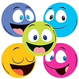 "SmileMakers® Happy Faces Stickers; 2-1/2""H x 2-1/2""W, 100/Roll"