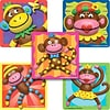 "SmileMakers® Sock Monkeys Stickers; 2-1/2""H x 2-1/2""W, 100/Roll"