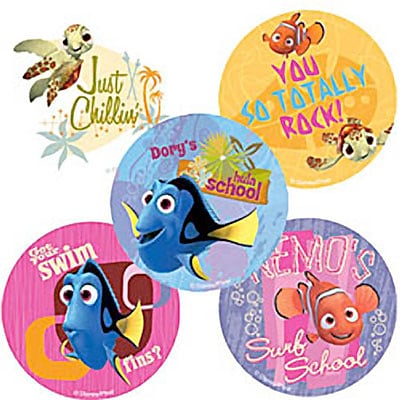 "SmileMakers® Nemo Wavy Days Stickers; 2-1/2""H x 2-1/2""W, 100/Roll"