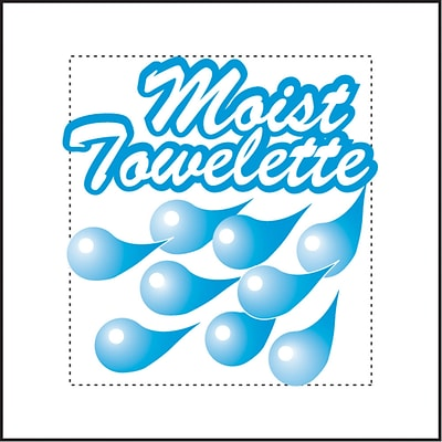 Sanfacon Fresh Nap Moist Towelettes; White, 4 x 7, 1000 Packets/Case
