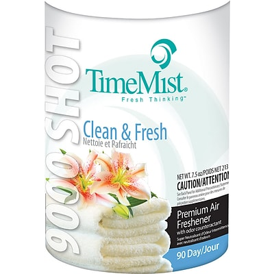 Timemist™ 9000 Metered Air Freshener; Clean N Fresh, 7.5 oz Aerosol, 4/Case